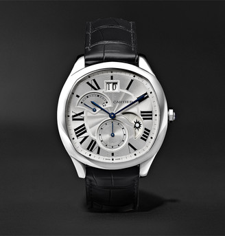 Cartier Drive De Automatic 40mm Steel And Alligator Watch, Ref. No. Crwsnm0005
