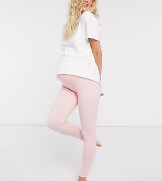 ASOS DESIGN Maternity mix & match jersey pyjama legging in pink