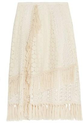 See by Chloe Tasseled Crocheted Lace Skirt