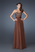 La Femme 18581 Embellished Sweetheart A-line Dress