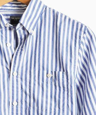 Todd Snyder Bold Stripe Button Down Shirt in Blue