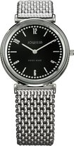 Jowissa Women's J4.038.M Nuoro Stainless Steel Black Sunray Dial Leather Watch