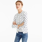 J.Crew Cotton Jackie cardigan sweater in dot