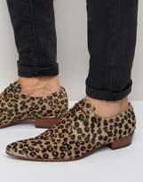 Jeffery West Adam Ant Leopard Derby Shoes