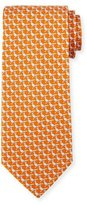 Salvatore Ferragamo Pheasant Silk Twill Tie, Orange