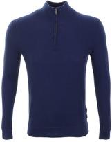 Michael Kors Half Zip Knit Jumper Blue