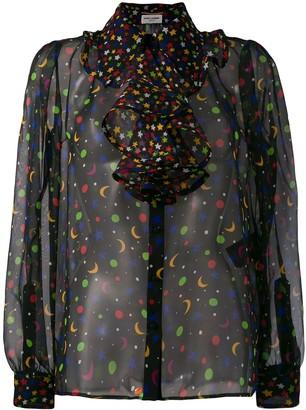 Saint Laurent Constellation sheer blouse