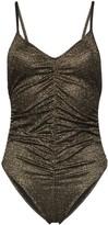 Lisa Marie Fernandez metallic ruched camisole body