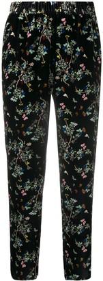 Zadig & Voltaire Floral Print Velvet Trousers