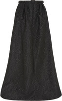 Jenny Packham Embroidered metallic gabardine maxi skirt