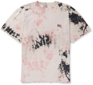 KAPITAL Ashbury Oversized Embroidered Tie-Dyed Cotton-Jersey T-Shirt