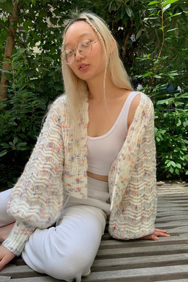 Urban Outfitters Talia Open-Front Balloon Sleeve Cardigan