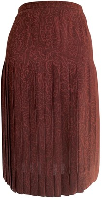 Jean Louis Scherrer Jean-louis Scherrer Burgundy Wool Skirt for Women Vintage