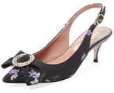 RED Valentino Floral Canvas Slingback Pump