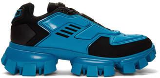 Prada Black and Blue Cloudbust Thunder Sneakers