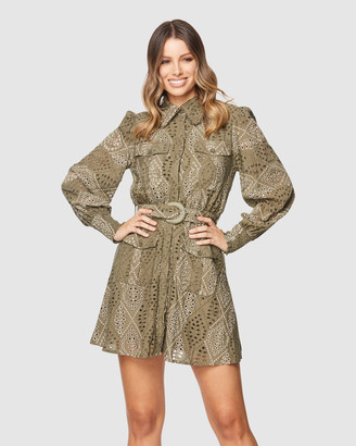 Pilgrim Women's Green Mini Dresses - Therese Mini Dress - Size One Size, 12 at The Iconic