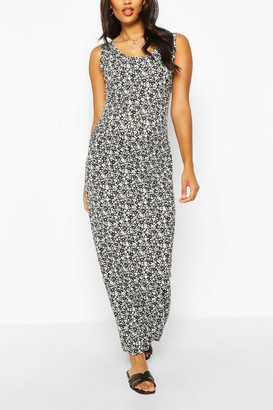 boohoo Maternity Ditsy Floral Scoop Neck Maxi Dress