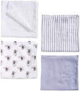 aden by aden + anais 4-Pk. Cotton Monkey Swaddle Blankets, Baby Boys