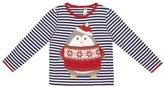 Jo-Jo JoJo Maman Bebe Penguin Top (Baby) - Navy/Cream Stripe-6-12 Months