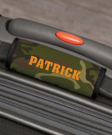 Personalized Planet Luggage Tags - Green Camo Personalized Luggage Handle Wrap