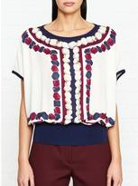 Ted Baker Farito Rowing Stripe Printed Top