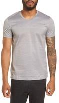 BOSS Men's Slim Fit Stripe V-Neck T-Shirt