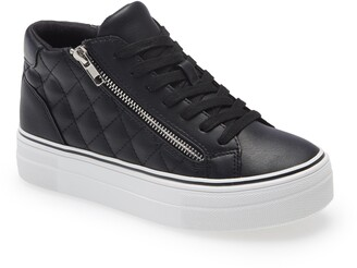 Steve Madden Gryphon Quilted Faux Leather High Top Sneaker