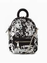 Very Micro Mini Crossbody Sequin Backpack - Silver