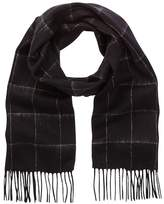 Amicale Wool Double Face Windowpane Scarf