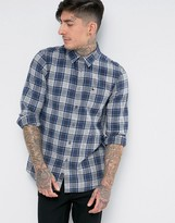Jack Wills Salcombe Check Shirt In Regular Fit In Flannel Navy/Blue