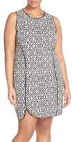 Tart Plus Size Women's 'Joslyn' Sleeveless Seam Detail Ponte Sheath Dress