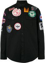 DSQUARED2 patch button-up shirt - men - Cotton - 50