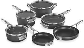 Calphalon Premier Space Saving Hard Anodized Nonstick 10-Piece Cookware Set