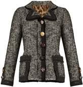Dolce & Gabbana Contrast-trim cotton-blend tweed jacket