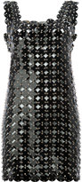 Paco Rabanne disc embellished shift dress - women - Calf Leather/Polyurethane/Brass - 36
