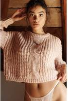 Garage Cable Knit Sweater Ballet Pink