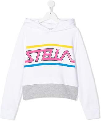Stella McCartney TEEN logo print hoodie