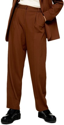 Topshop Twill Slouch Trousers