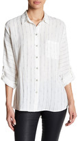 En Creme Lace Up Shirt