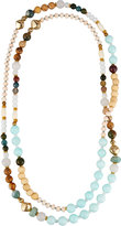 Nakamol Long Beaded Rope Necklace, Amazonite Mix