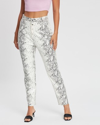 Missguided Faux-Leather Straight Leg Trousers