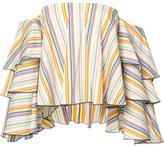 Caroline Constas off-shoulders striped blouse - women - Cotton/Nylon/Spandex/Elastane - S