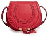 Chloé 'Mini Marcie' Leather Crossbody Bag - Red