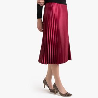 Anne Weyburn Pleated Midi Skirt