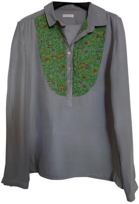 Cacharel Grey Silk Tops