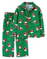 Just One You®; made by Carter's Toddler Boys' Long-Sleeve Fleece Coat Pajama Set Green Santa - Just One You&#...