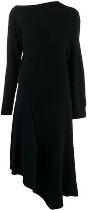 Loewe asymmetric knitted dress