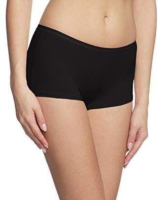 Calida Women's 254 Boy Shorts, (Black 992), (Size: XS = 10/)