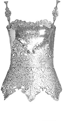 Paco Rabanne Embroidered Sequin Corset Top