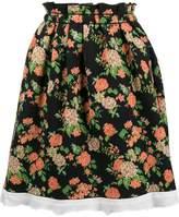 MSGM flared floral skirt